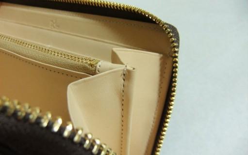グランドウォレット小銭入れの縫製