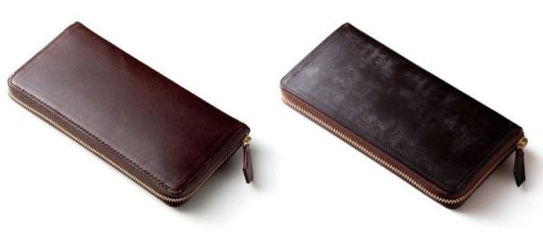 一般的な革財布とブライドル グランドウォレットの比較