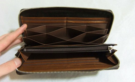 ハニーセル長財布の内装