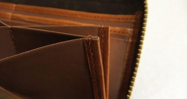 ハニーセルのコバ縫製