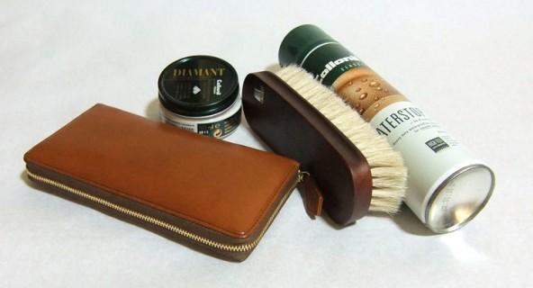 皮革専用クリームを使った革財布の手入れ方法
