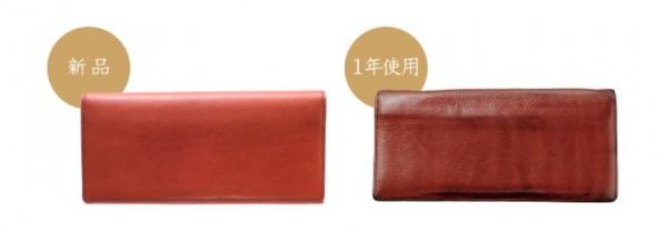 使っている間に革に味わいを増していく財布