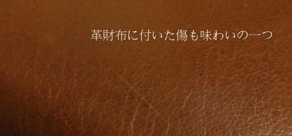 革財布に傷がついたらショックですが味わいの一つです