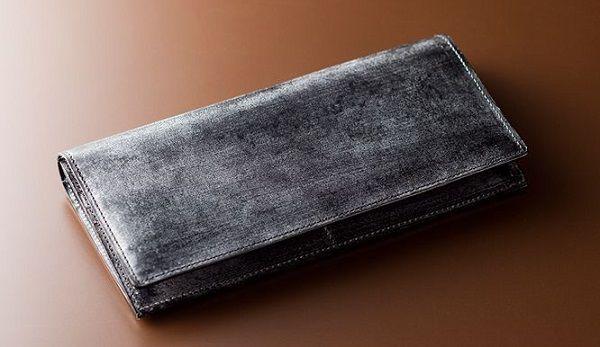 財布全面ブライドルレザー仕立てのメンズ長財布