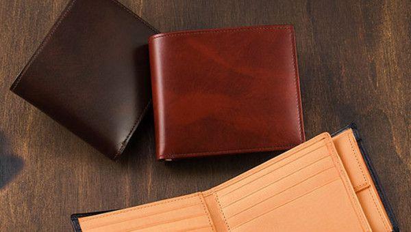 カードが沢山入る二つ折り財布メンズ・シラサギレザー