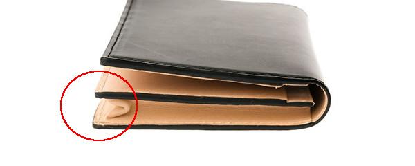 通しマチ構造の財布