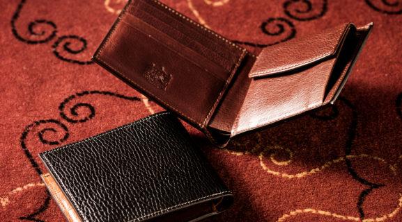 ピエトロレザーを使った上質なメンズ二つ折り財布