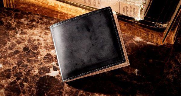 人気NO.1の日本製コードバン・メンズ二つ折り財布