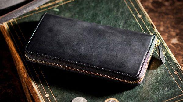 人気NO.1の日本製コードバン・ラウンドファスナー長財布メンズ