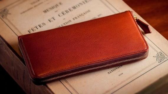 ブラウンカラーの財布
