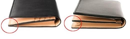 ササマチ長財布と通しマチ長財布の比較