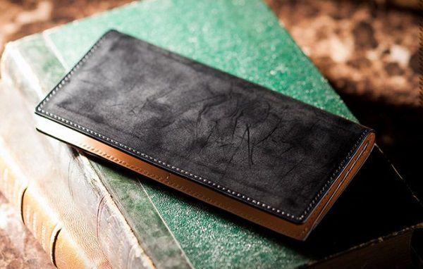 日本製の薄型コードバン長財布メンズ